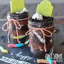 Halloween Dirt Cake Recipe Gummy Worms by Ghostly Graveyard Pudding Dirt Cups In Mason Jars Awesome With