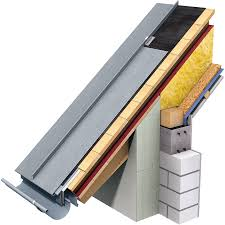 cad and bim object angled standing seam roof 530 mm prepatina