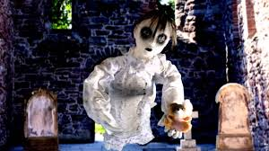 standing doll animated prop halloween decoration