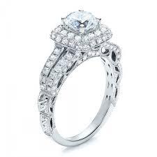 Italian Wedding Rings by Split Shank Halo Engagement Ring Vanna K 100074
