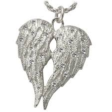 urn necklaces silver cremation jewelry my angel pendant