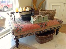 Upholster Ottoman Coffee Table Ottoman Upholstered From Upcycled Regarding Designs