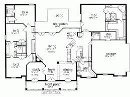 house plans with kitchen in front 1 house plans take front dining room and study