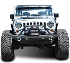 brush guard jeep jcr offroad defender mid width front winch bumper with brush guard