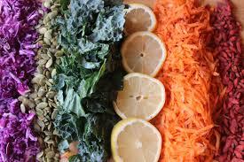 Super Colorful Rainbow Super Food Kale Salad Paleo Rachel U0027s Nourishing Kitchen