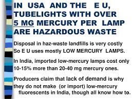 fluorescent l disposal cost low mercury fluorescent lamps ppt download