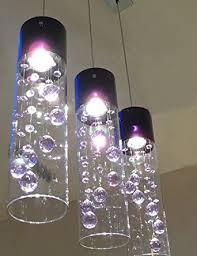 3 Pendant Light Fixture Uk by Nilight Glass Shade Purple Crystal Ceiling Light Pendant Lamp X 3