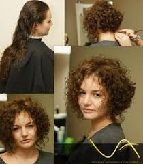 stacked in back brown curly hair pics short and curly inverted bob cut to appear round in the back so