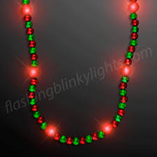 led light up necklace in green