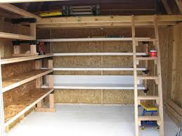 Wood Shelving Plans Garage by A Diy Ladder Permanently In Place Would Be A Whole Lot Easier Than