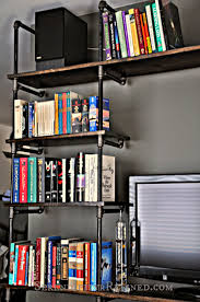 Black Pipe Bookshelf Serendipity Refined Blog Diy Industrial Pipe Shelves For The