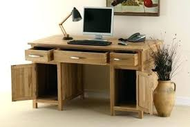 solid wood corner computer desk with hutch real wood computer desk doctorapp co