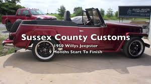 custom willys jeepster from the ground up 1950 willys jeepster youtube