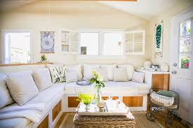 Built In Living Room Furniture Small Living A Genius 350 Square Foot Cottage Cococozy