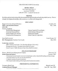 Mba Resume Sample by 25 Finance Resumes In Pdf Free U0026 Premium Templates