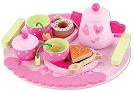 jeux de cuisine service dinette service à thé en bois jeu d imitation amazon fr jeux