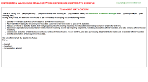 warehouse duties resume objectives examples for warehouse worker