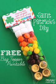 free st patrick u0027s day bag topper printable crafts day bag and bags
