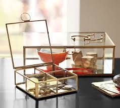 Pottery Barn Jewelry Stand Callie Glass Boxes Pottery Barn
