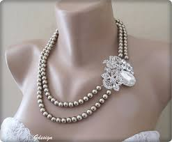 color pearl necklace images Wedding bridal pendant latte color pearl necklace chic jpg