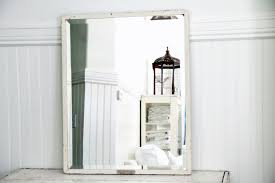 industrial white metal beveled mirror large omero home