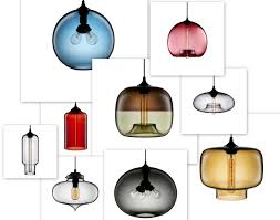 blue blown glass pendant lights designs ideasblue glass bead