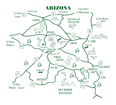 Arizona Maps by Getting To Arizona U0027s White Mountains Arizona White Mountains