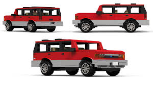 big scale lego ford explorer moc instructions 12 stud wide youtube