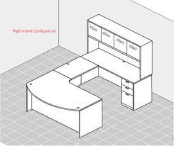 of4s owner u0027s u shaped ergonomic executive desk with overhead