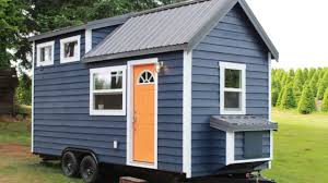 Tiny Luxury Homes by Beautiful Blue Tiny House Is Designed And Built By Luxury Youtube