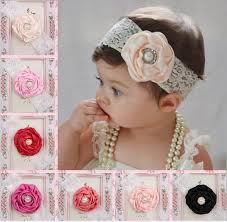 flower bands 2017 baby lace cotton headbands mix flower hairbands