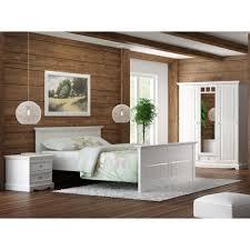 Schlafzimmer Abverkauf Terreich Granada Schlafzimmer Set Kiefer Massiv Creme Weiß 140x200 Kaufen