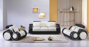 vig furniture sofa set black and white 4088 contemporary