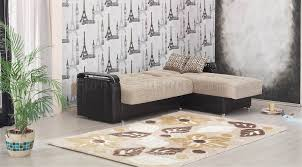 Sectional Or Two Sofas Leather Modern Two Tone Sectional Sofa W Options