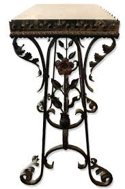 Wrought Iron Patio Side Table Table Basse Ronde Art Deco 1940 Fer Forge Wrought Iron Coffee