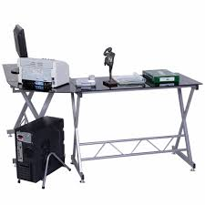 Computer Schreibtisch Ecke Goplus L Form Computertisch Pc Glas Top Laptop Tisch Schule