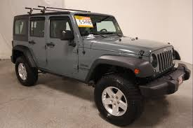 jeep wrangler grey grey jeep wrangler in washington for sale used cars on