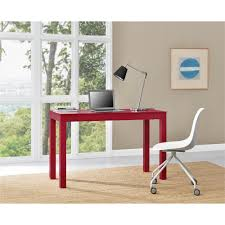 altra furniture parsons xl red desk 9889196com the home depot
