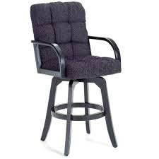 Black Swivel Bar Stool Furniture Black Wooden Swivel Counter Height Stool With Arm And