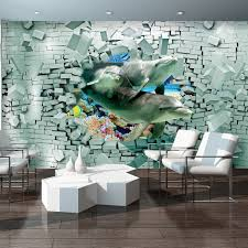 photo wallpaper dolphins bricks 3d wall mural 3447ve 24 99 photo wallpaper dolphins bricks 3d wall mural 3447ve