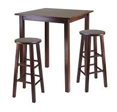 high table with stools parkland 3pc high table with 29 square leg stools walnut 195 09
