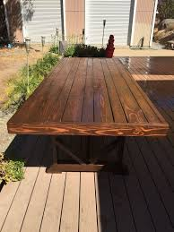 Plans For Wood Patio Furniture by Best 25 Outdoor Dining Tables Ideas On Pinterest Patio Tables
