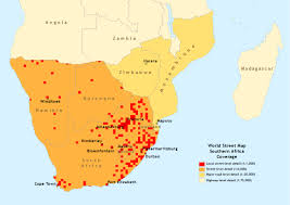 Southern Africa Map Arcgis Street Basemap