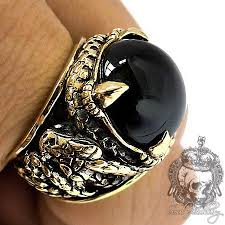 men big rings images Rings gothic rings men 39 s silver ring big black onyx python jpg