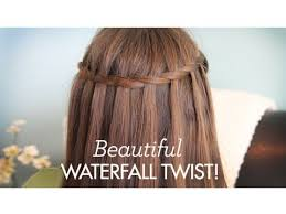 cute haircutes for 47 year olds beautiful waterfall twist cute girls hairstyles youtube