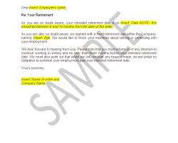 9 best images of retirement notice letter sample sample