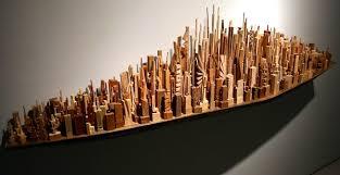 scrap wood sculpture the city in scrapwood arnold zwicky s