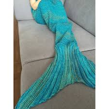 parade throws wholesale stylish stripe knitted mermaid design blanket for kids