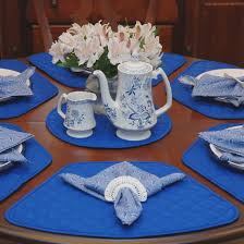 table placemats for round tables starrkingschool wedge placemats royal blue quilted shaped round table