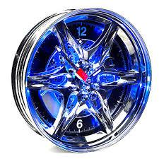 Weird Wall Clocks by Neon Rim Car Wheel Wall Clock Car Tyre Wall Clock
